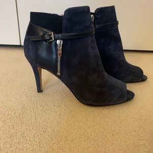 Marc Fisher Navy suede Open Toe Boot with buckle